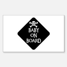 WARNING: BABY ON BOARD Rectangle Decal