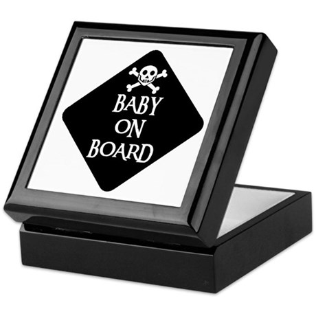 WARNING: BABY ON BOARD Keepsake Box