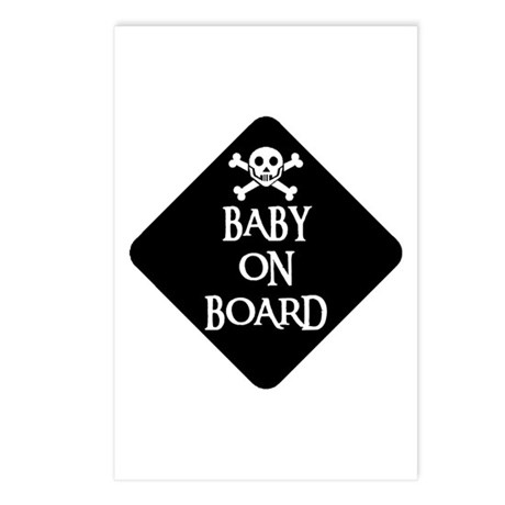 WARNING: BABY ON BOARD Postcards (Package of 8)