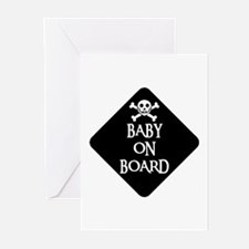 WARNING: BABY ON BOARD Greeting Cards (Package of