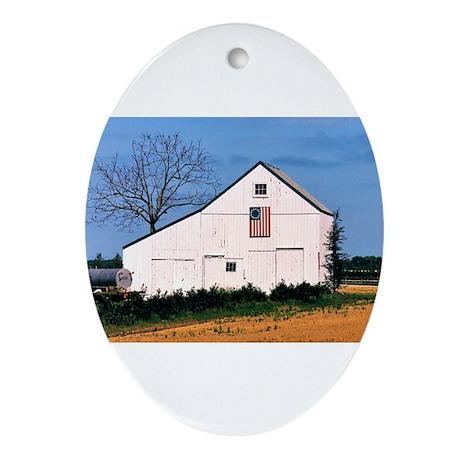 American Barns No. 2 Ornament (Oval)