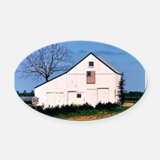 American Barns No. 2 Oval Car Magnet