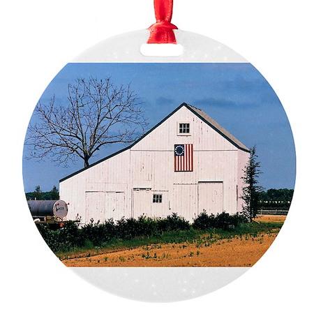 American Barns No. 2 Round Ornament