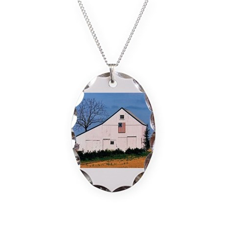 American Barns No. 2 Necklace Oval Charm