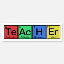 Teacher made of Elements colors Bumper Bumper Sticker