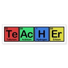 Teacher made of Elements colors Stickers