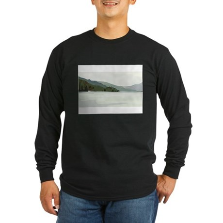 Mountain Long Sleeve Dark T-Shirt