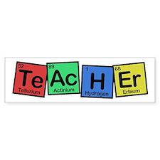 Teacher made of Elements colors Bumper Sticker