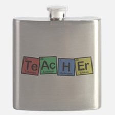 Teacher made of Elements colors Flask
