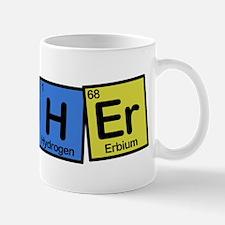 Teacher made of Elements colors Mug