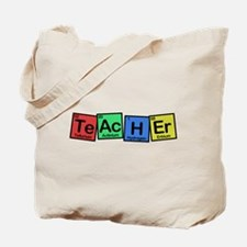 Teacher made of Elements colors Tote Bag