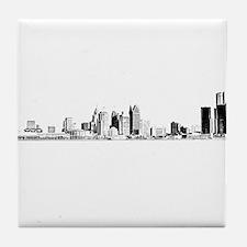 Detroit Skyline Tile Coaster