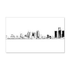 Detroit Skyline Wall Decal