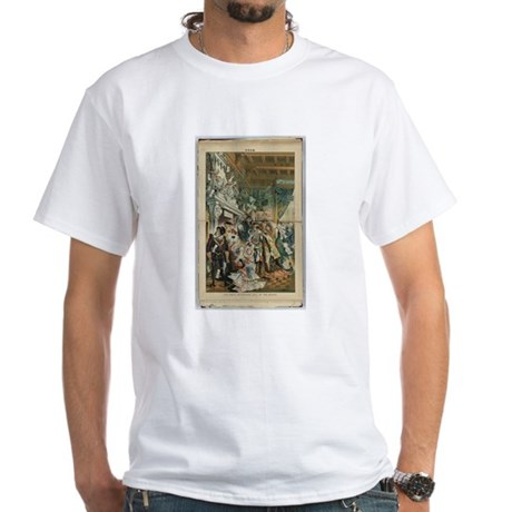 """Illustration from """"Puck"""" April 1883 White T-Shirt"""