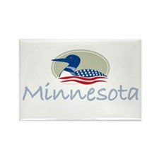 Minnesota Proud Loon: Rectangle Magnet (100 pack)