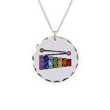 Wild Xylophone Necklace Circle Charm