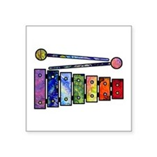 "Wild Xylophone Square Sticker 3"" x 3"""