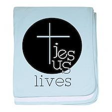 Jesus Lives baby blanket