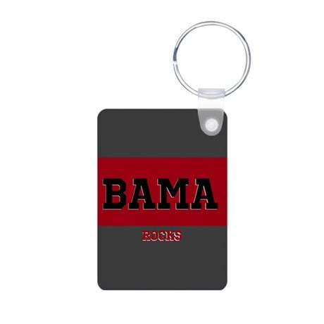 Bama Rocks Aluminum Photo Keychain
