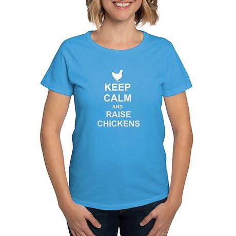 KEEP CALM AND RAISE CHICKENS Women's Dark T-Shirt