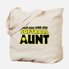 Dont Mess With This Softball Aunt.png Tote Bag