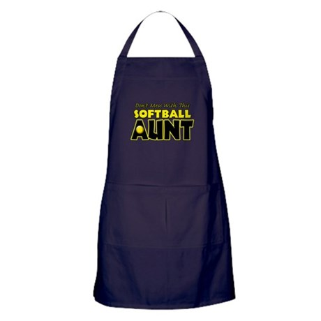 Dont Mess With This Softball Aunt.png Apron (dark)