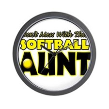 Dont Mess With This Softball Aunt.png Wall Clock