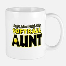 Dont Mess With This Softball Aunt.png Mug