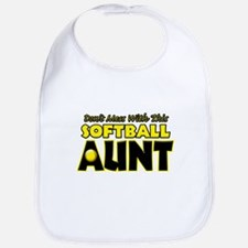 Dont Mess With This Softball Aunt.png Bib