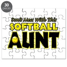 Dont Mess With This Softball Aunt.png Puzzle