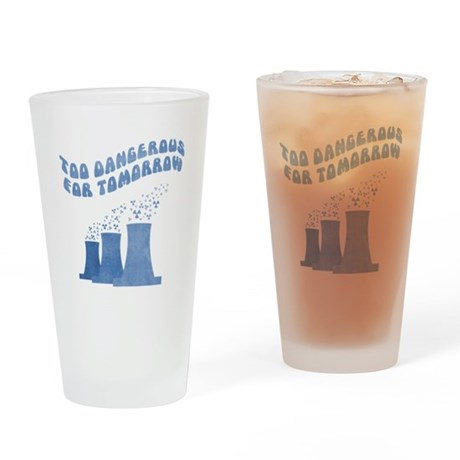 No Nukes (cooling towers) Drinking Glass