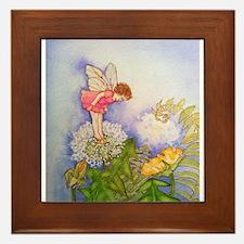 Dandelion Wishing Fairy Framed Tile