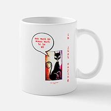 Funny Sexy Black Cat Diva Mug