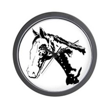 Western Black Horse Wall Clock