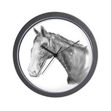 Western Black And White Horse Wall Clock