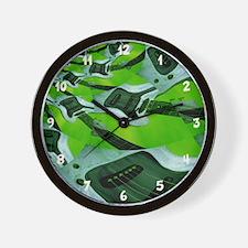 Modern Green Guitar Wall Clock