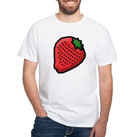 Strawberry White T-Shirt