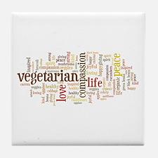 Vegetarian Tile Coaster