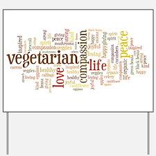 Vegetarian Yard Sign