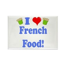 I Heart French Food Rectangle Magnet (10 pack)