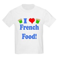 I Heart French Food Kids T-Shirt