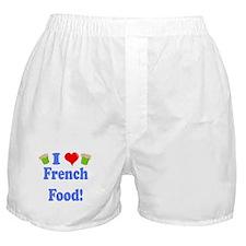 I Heart French Food Boxer Shorts