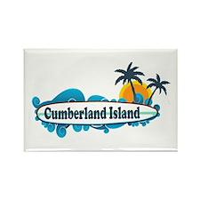 Cumberland Island GA - Surf Design. Rectangle Magn
