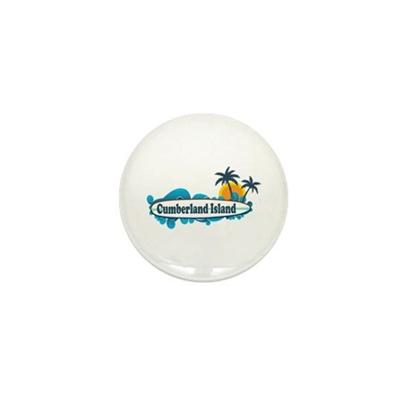 Cumberland Island GA - Surf Design. Mini Button (1