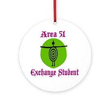 Area 51 Exchange Student Ornament (Round)