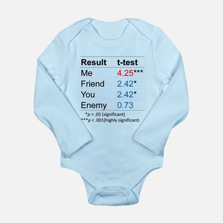 T-Test Table Long Sleeve Infant Bodysuit