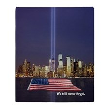 9/11 Tribute - Never Forget Throw Blanket