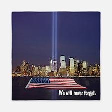 9/11 Tribute - Never Forget Queen Duvet
