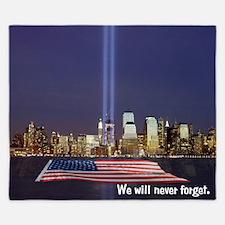 9/11 Tribute - Never Forget King Duvet