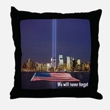9/11 Tribute - Never Forget Throw Pillow